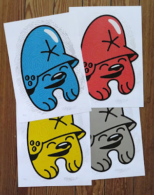 Teddy Troops Fingerprints Screen Prints by Flying Fortress