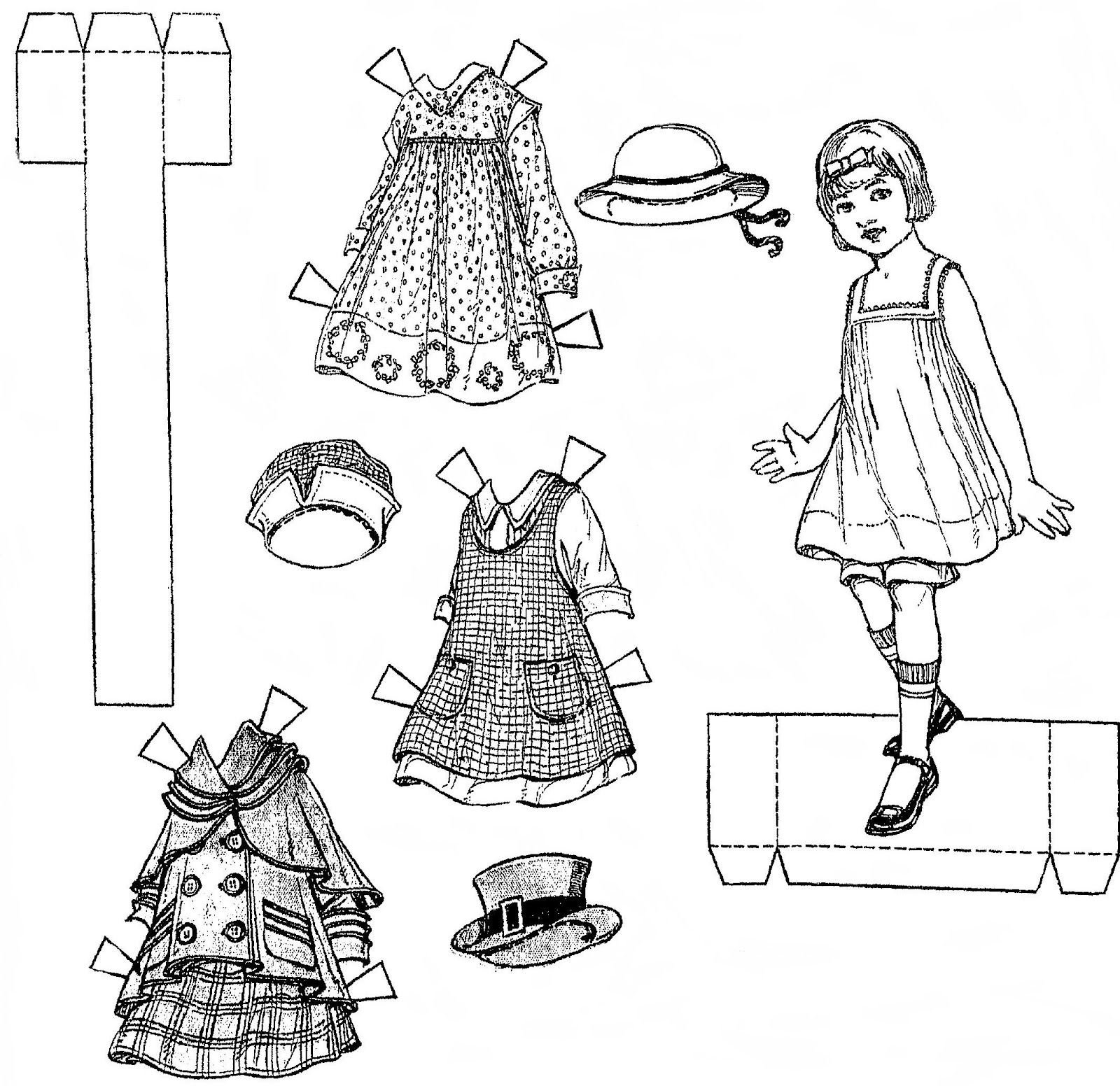 Mostly Paper Dolls: Newspaper Paper Dolls, 1916