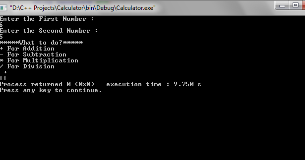 c   programming how to make a simple calculator