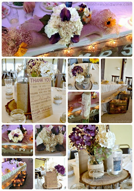 Just Some Purple Pom And Burlap Bows With Baby S Breath