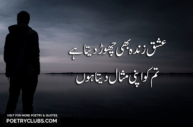Urdu Love Poetry, Quotes - 2 Lines Romantic, Sad, Love Shayari