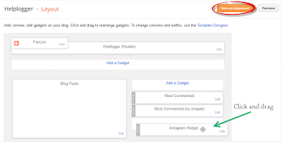 menambahkan widget istagram ke blog