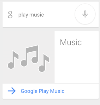 Google's Voice Command for Playing Music