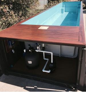 kolam renang kontainer