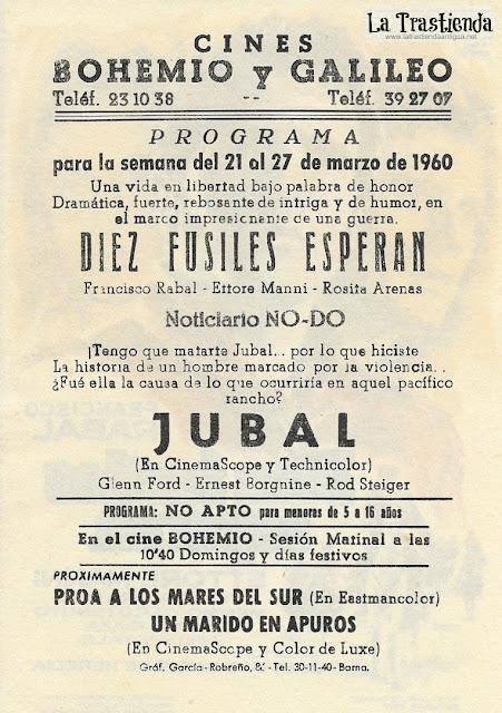 Diez Fusiles Esperan - Programa de Cine - Francisco Rabal - Rosita Arenas