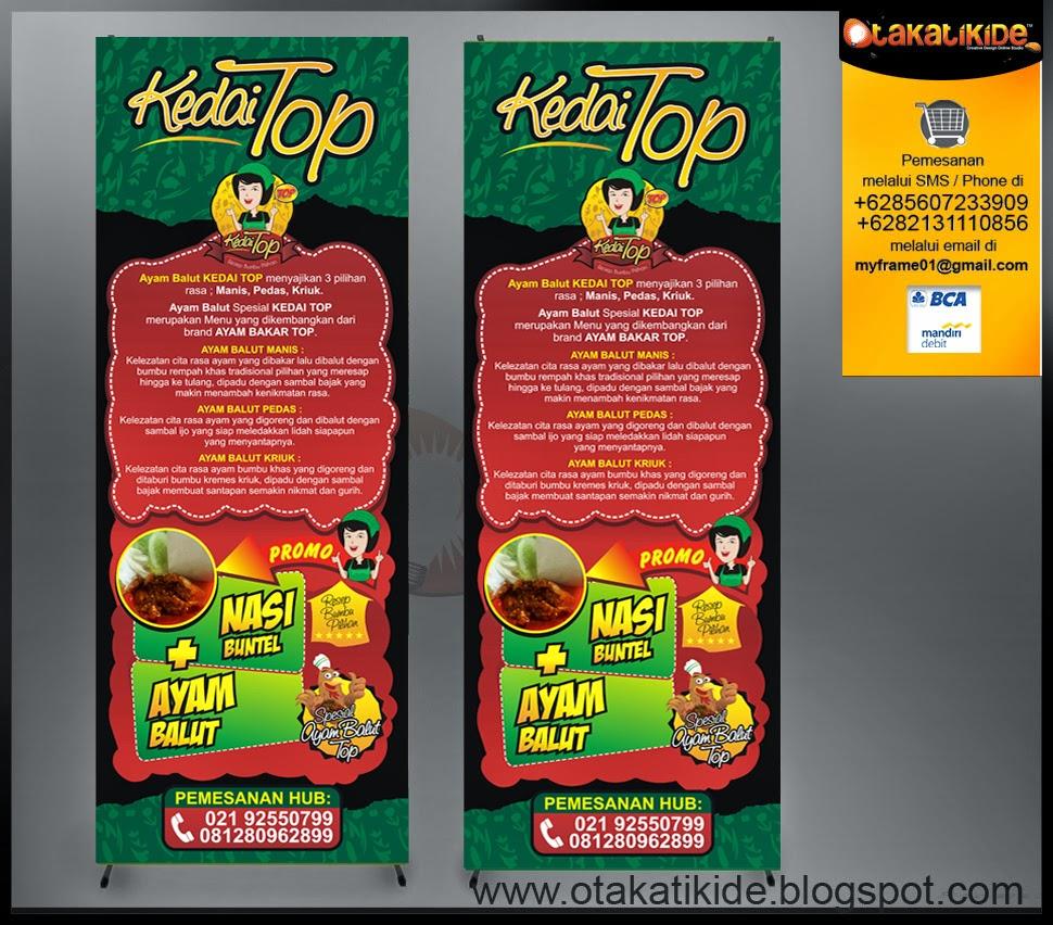 Design X Banner Makanan - design bild