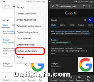 Cara mengaktifkan fitur Night Mode di Browser Samsung