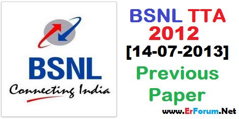 bsnl-tta-2013-solved-paper
