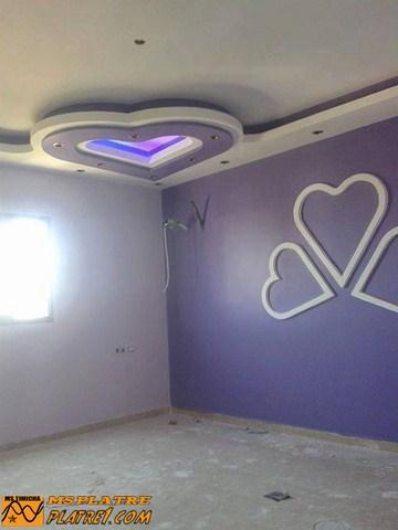 Décor en plâtre pour une chambre a coucher pour les filles
