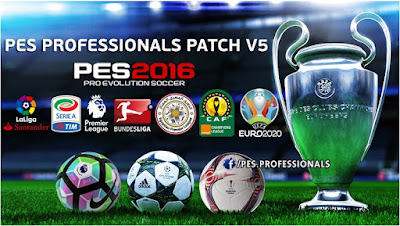 Patch PES 2016 Terbaru dari PES Professional V5 AIO