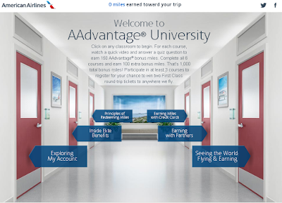 AAdvantage University: 1000 milhas grátis na American Airlines