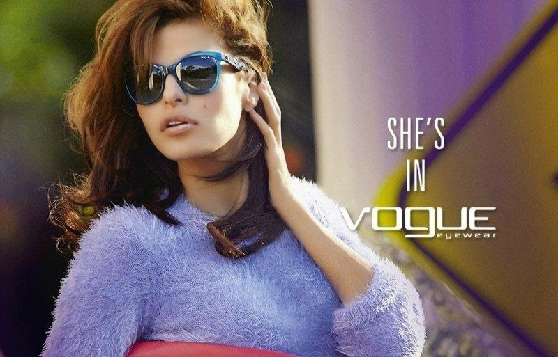 Vogue Eyewear Fall/Winter 2014 Campaign featuring Eva Mendes