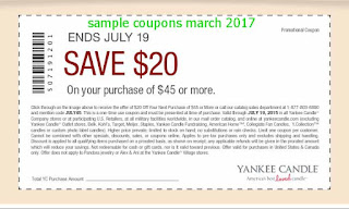 free Yankee Candle coupons for march 2017