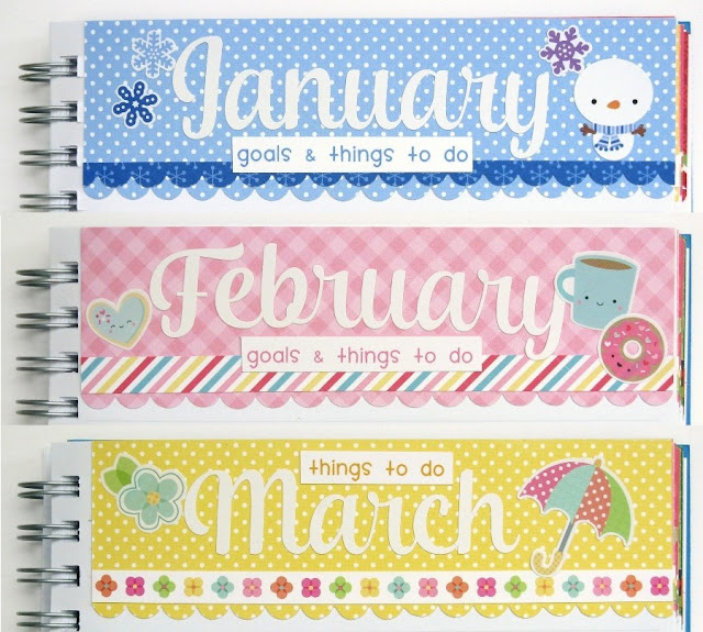 Doodlebug Planner / Calendar project featuring monthly list of things to do by Mendi Yoshikawa.