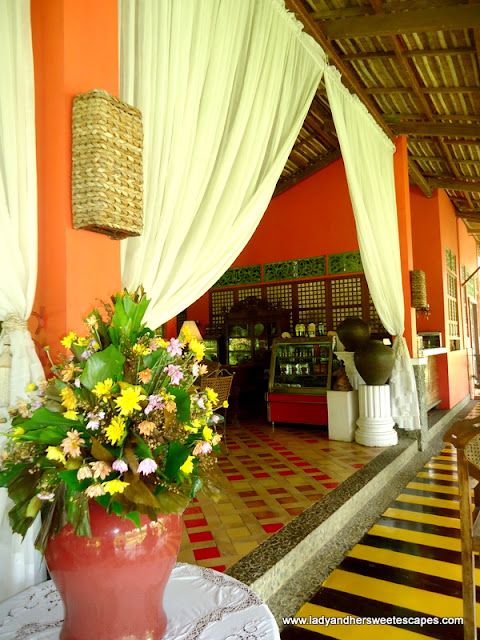 draped curtains at Rafael's Farm Leyte