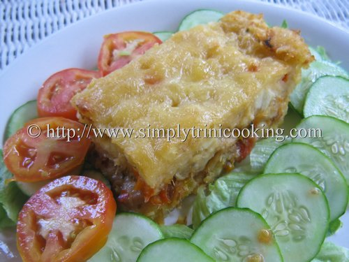 Cassava and Saltfish Pie