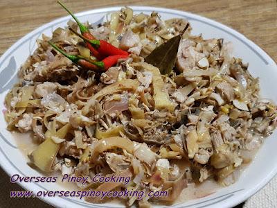 Adobong Puso ng Saging, Banana Blossom Adobo Dish