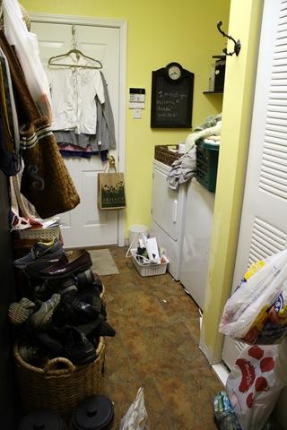 laundry room turned mud room
