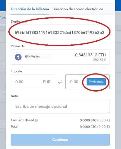 envio ethereum a binance para comprar bitshares