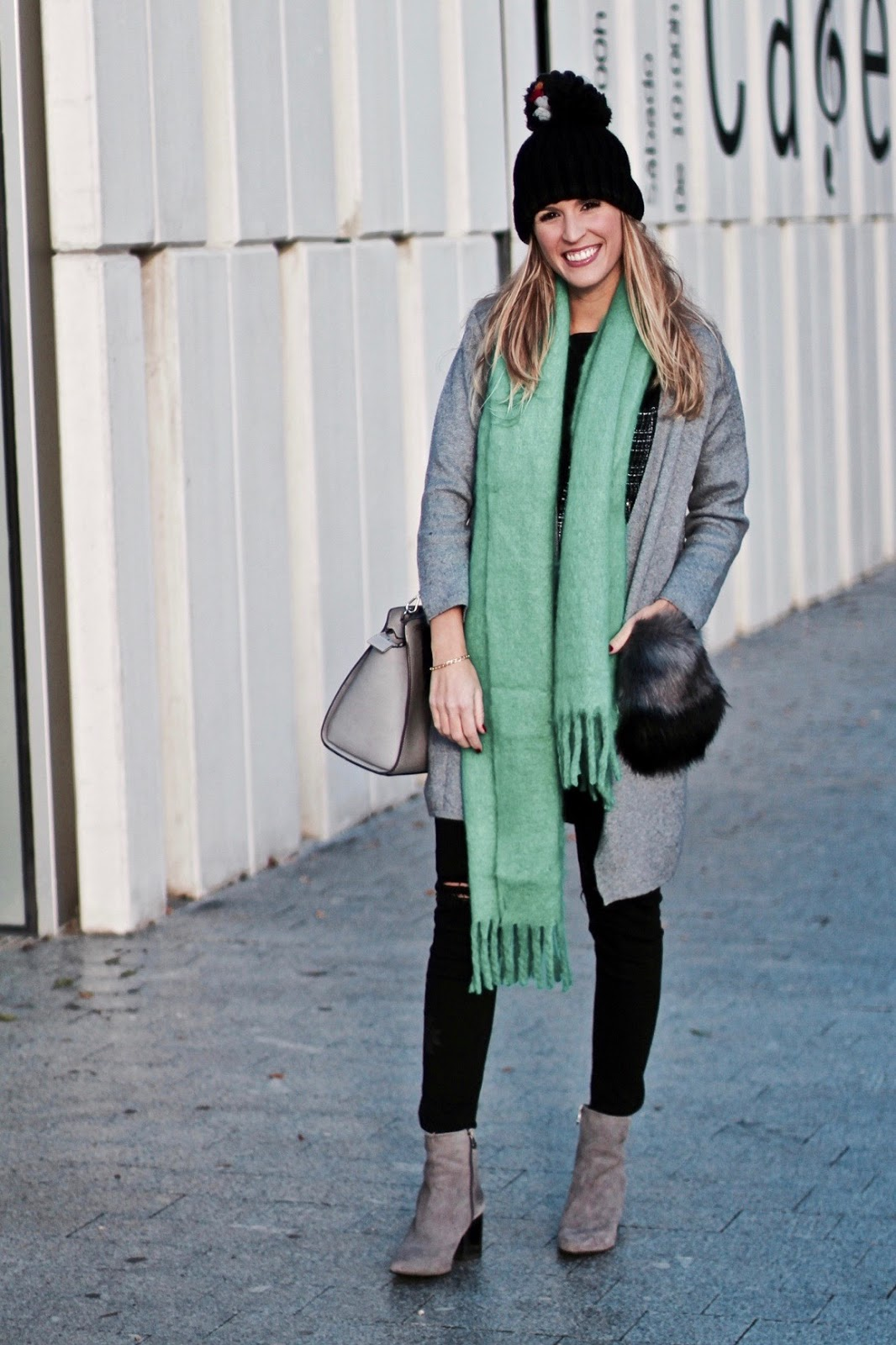 maxi bufanda verde