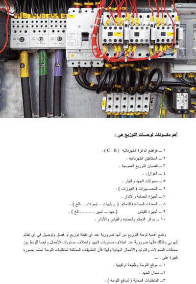 لوحات التوزيع الكهربائية pdf
