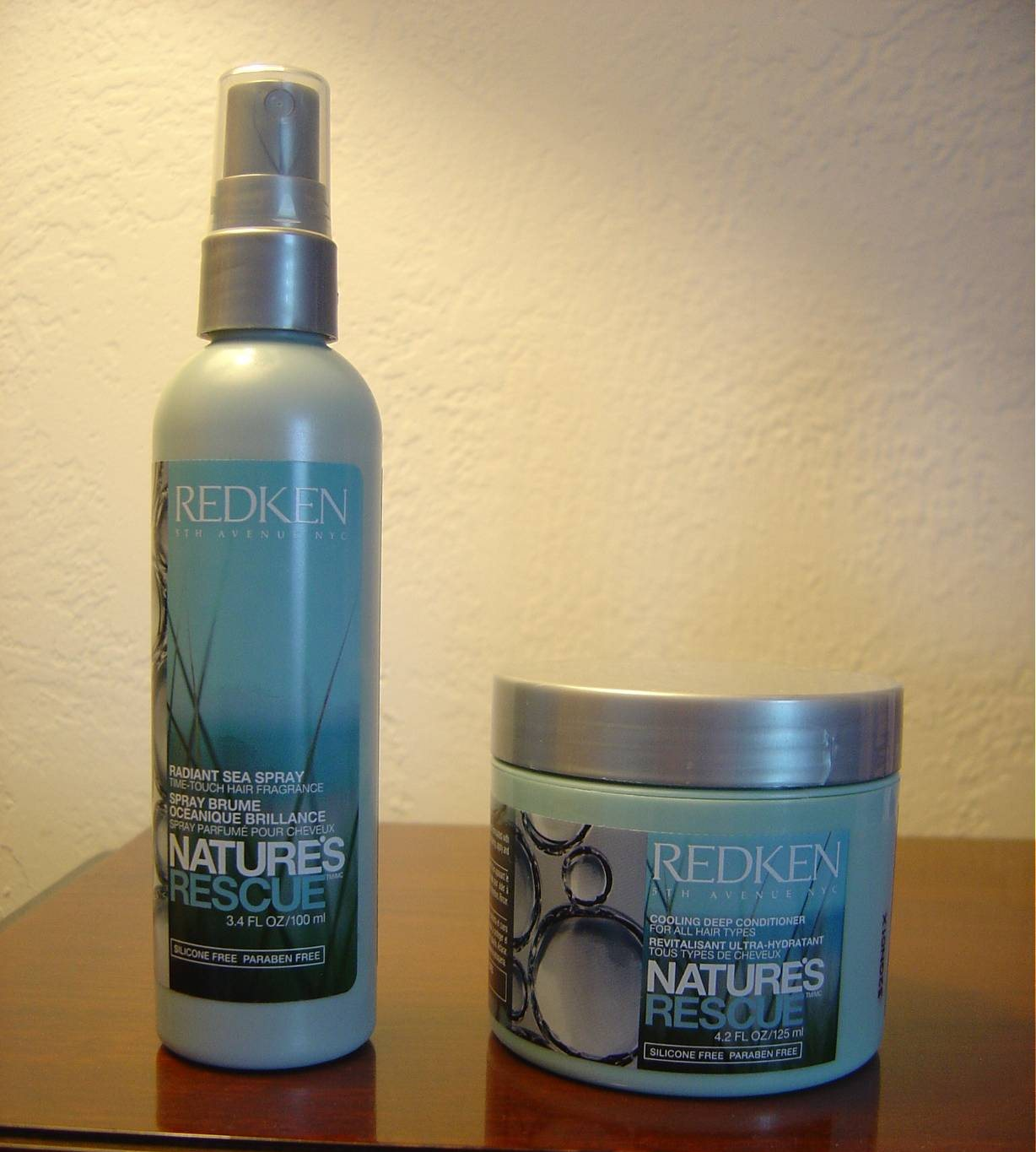 Redken Nature's Rescue Radiant Sea Spray and Cooling Deep Conditioner