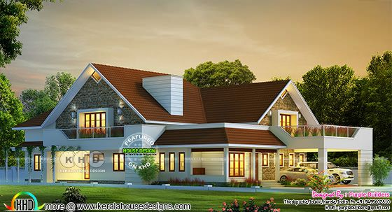 Big Sloping roof bungalow home