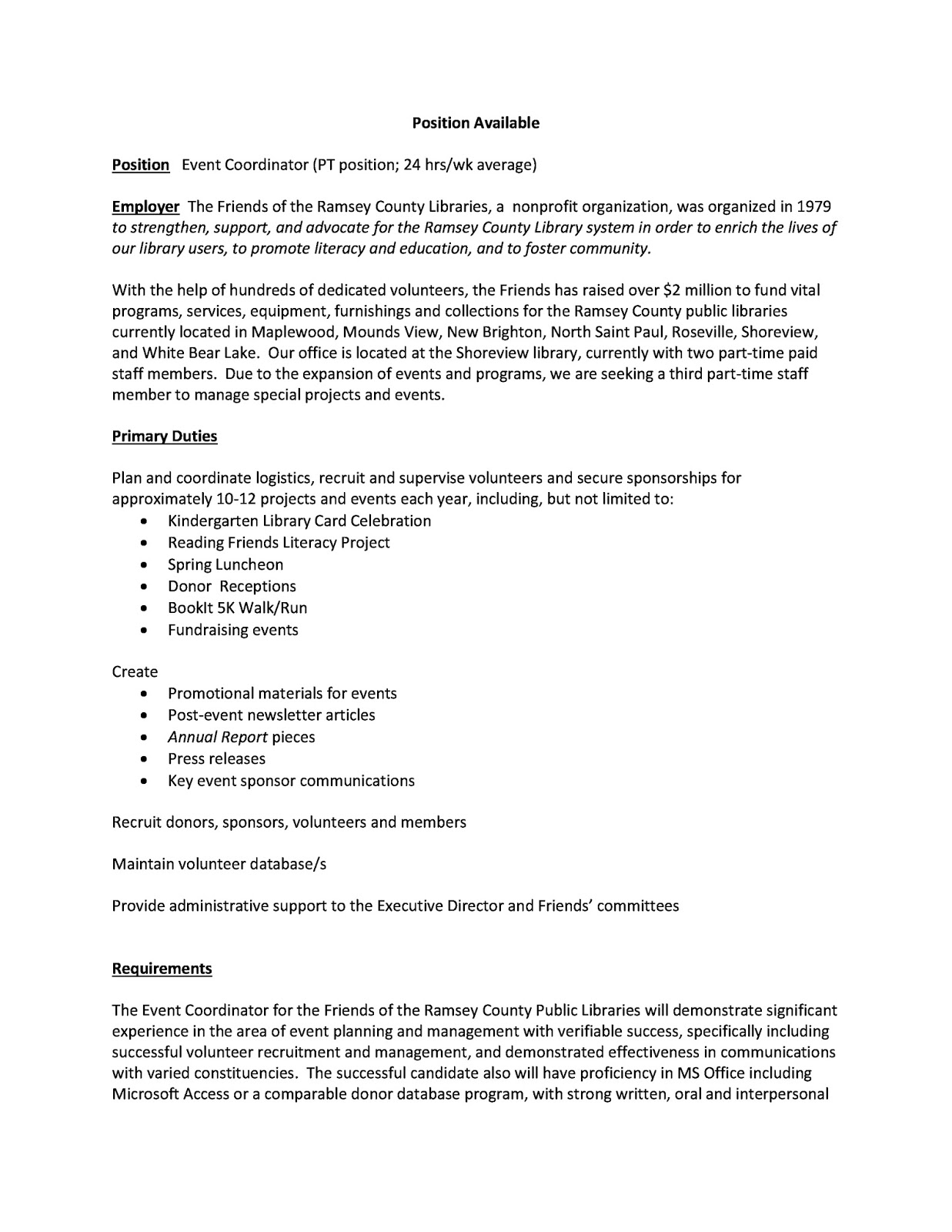 Literacy coordinator resume