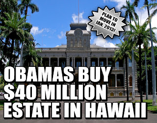 OBAMA BUYS $40 MILLION ESTATE IN HAWAII