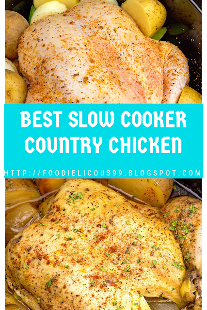 BEST SLOW COOKER COUNTRY CHICKEN
