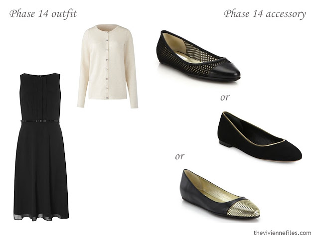 Which flats to wear with a black dress?