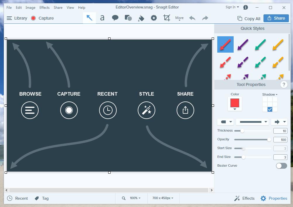 TechSmith SnagIt terbaru Februari 2018, versi 18 1 0 Build