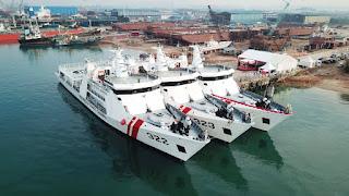 Bakamla Luncurkan 3 Kapal Penjaga Perbatasan