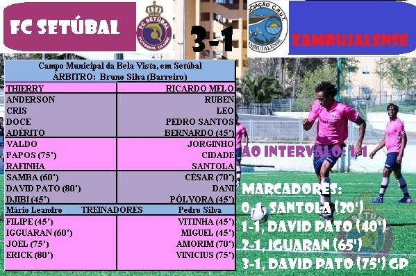 Na classificação o FC Setúbal reparte o comando com o Fabril (que tem mais  um jogo) com nove pontos e o Zambujalense está na última posição 1630af05fbc22