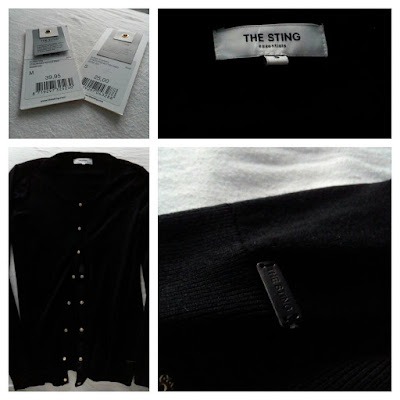 The Sting Black Classic Cardigan Small Cute Basic Look