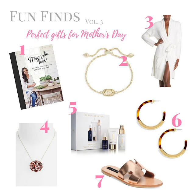 Looking for a beautiful and thoughtful Mother's Day gift?  This guide includes perfect items for any woman in your life.  The list includes jewelry, shoes, spa essentials and a cookbook.  | www.livingyoungandhealthy.com