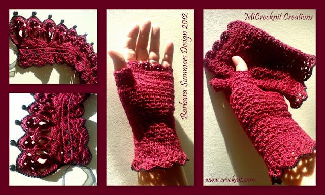 crochet patterns, how to crochet, mittens, lace, fingerless, edwardian,
