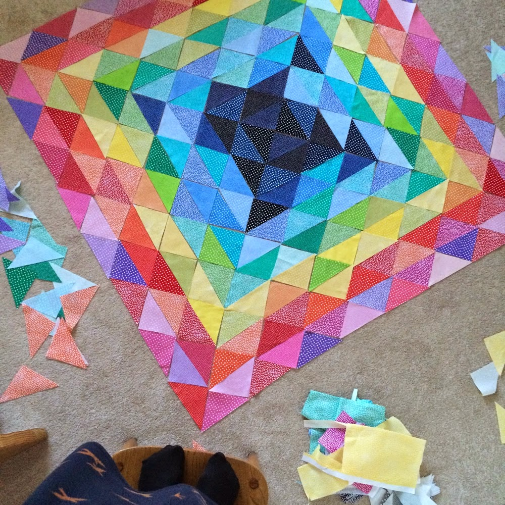 Flossie Teacakes: A quilt design wall