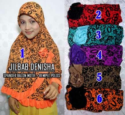 Jilbab praktis yang modis dengan motif dan warna yang manis
