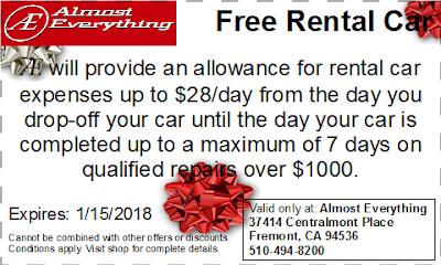 Coupon Free Rental Car December 2017