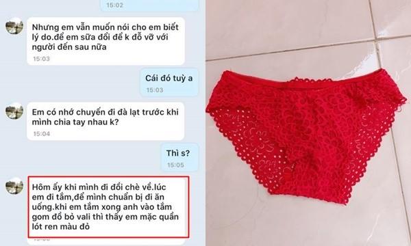 Bị người yêu chia tay vì mặc quần lót ren màu đỏ