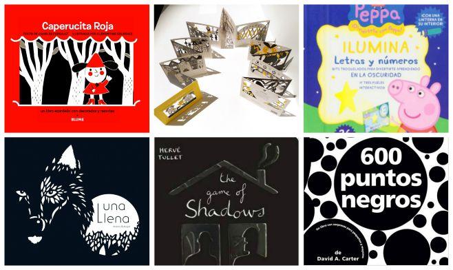 libros infantiles troquelados o en pop-up para hecer sombras oscuridad