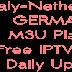 Free IPTV Germany RTL RAI Italy Netherlands SBS