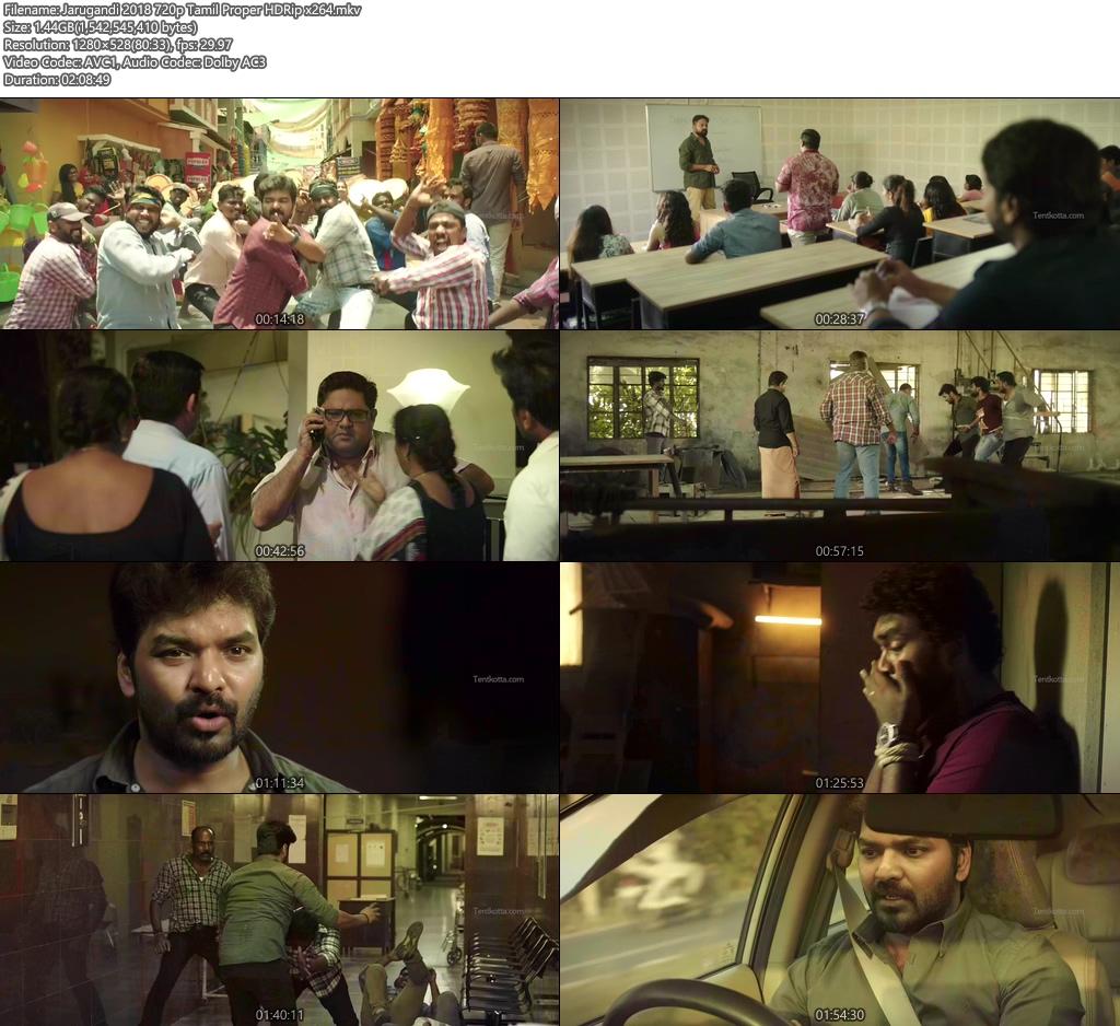 Jarugandi 2018 720p Tamil Proper HDRip x264 | 480p 300MB | 100MB HEVC Screenshot