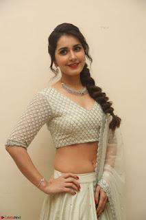Raashi Khanan looks stunning in Crop Top Deep neck Choli Ghagra Transparent Chunni WOW ~  Exclusive Celebrities Galleries 134