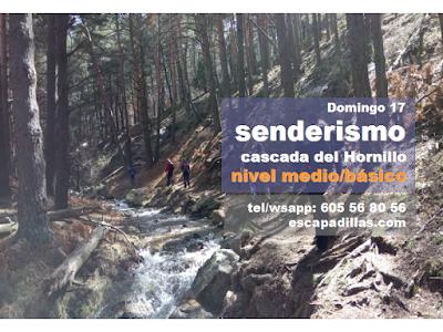 A la cascada del Hornillo, con el grupo de senderismo y experiencias solidarias - escapadillas.com