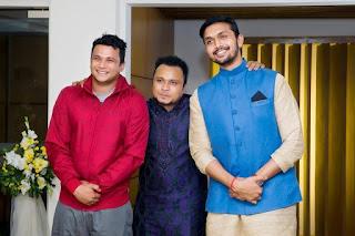 Mishu Sabbir And His Wife Shamma Holud Wedding Photos With Actor Nayeem And Arefin Shuvo