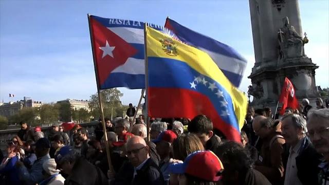 Franceses apoyan al pueblo venezolano y critican postura de Macron