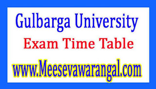 Gulbarga University B.Ed (Modified) Ist Sem Jan 2017 Exam Time Table