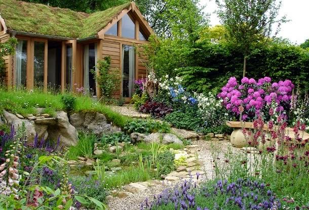 Ландшафт вокруг садового домика